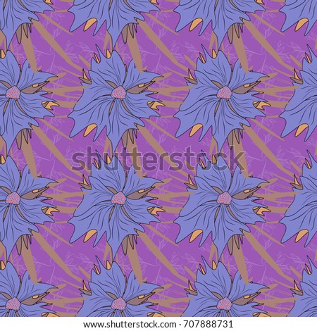 Brown Violet Purple Stained Glass Vitrage Stock Illustration