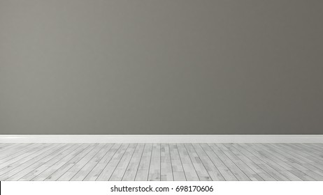 brown wall background with white parquet decoration idea 3D rendering