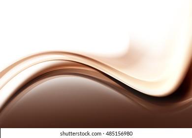 Brown Wave Design Background