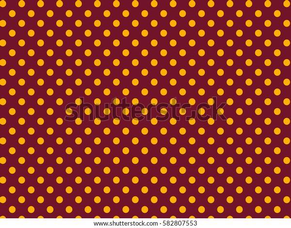 Brown yellow dots pattern