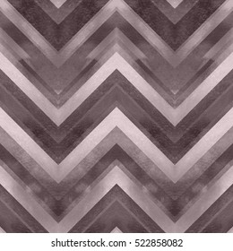 Brown zig zag watercolor pattern. Case cute pattern zig zag chocolate dark trendy color. Elegance manly geometric watercolor seamless.