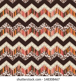 brown zigzag seamless background