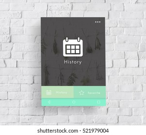 Browser History Web Technology Concept