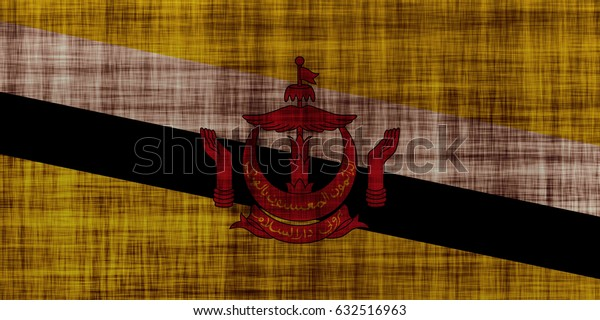 Brunei flag grunge background. Background for design in country flag