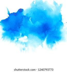 brush blue watercolor.