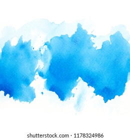 brush blue watercolor.color shades space image
