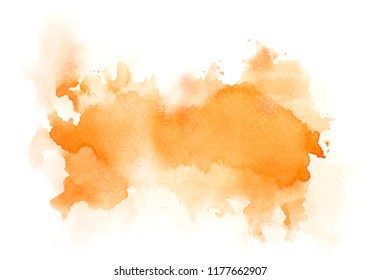 brush orange watercolor.color shades space image