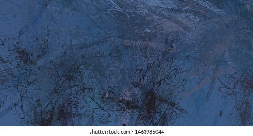 Brush painting. Artistic canvas. Oil art. 2d illustration. Texture backdrop. Creative chaos structure element.