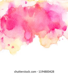 brush shades pink watercolor on paper.image