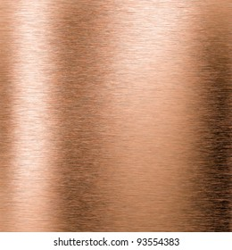 Brushed copper metal background or texture