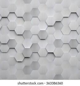 Arrière-Plan hexagone en métal brossé
