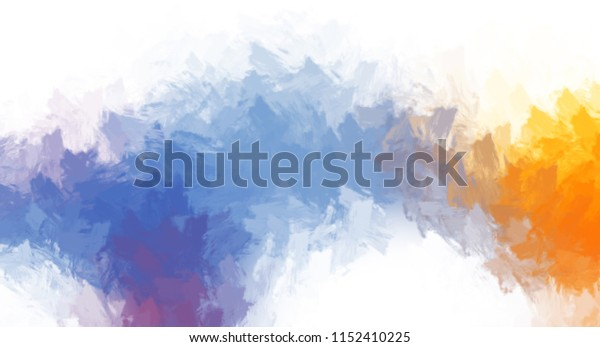Brushed Painted Abstract Background. Brush stroked painting.