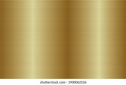 Brushed steel metal texture. Stainless steel technology background. Gold metallic gradient