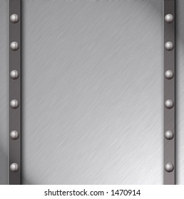 Brushed steel plate with Detail