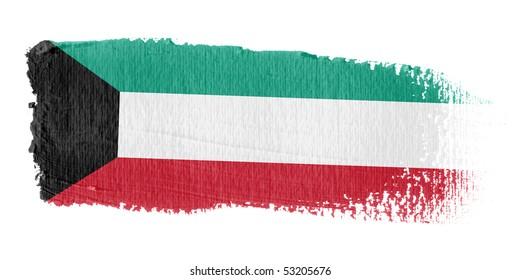 Brushstroke Flag Kuwait