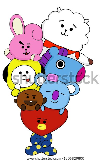 bt21 cartoons bangtan bts 600w 1505829800