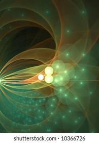 Bubble Orbs Swarm And Arc - fractal design