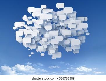 bubble talk over the sky