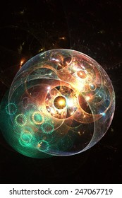 Bubble universe - abstract computer generated render with a science fiction theme