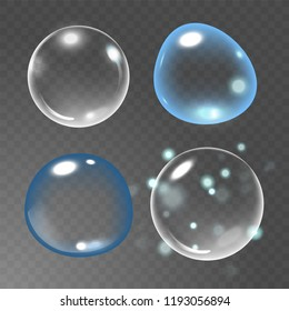 Bubbles under water  illustration on transparent background