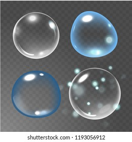 Bubbles under water  illustration on transparent background