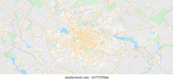 Bucharest Romania - Detailed GPS Map - Printable - Wall Decor, Presentation - Other Purposes