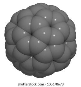 buckminsterfullerene (buckyball, C60) molecule, chemical structure