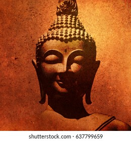 Buddha image in painting style