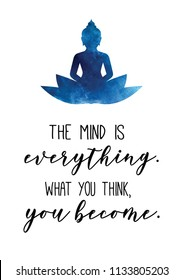 buddha spiritual quote law of attraction peaceful wallpaper