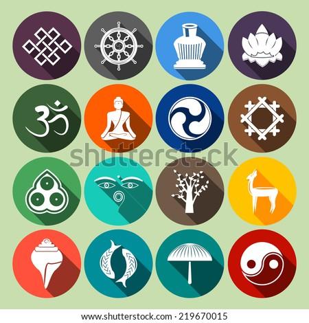 Buddhism Yoga Oriental Traditional Spiritual Indian Stock