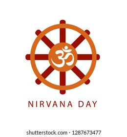 Buddhist celebration of Nirvana Day- A day which means Enlightenment after death, Enlightenment without remainder, Enlightenment without residue