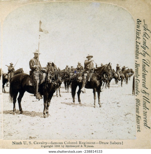 Buffalo Soldiers Ninth Us Cavalryfamous Colored Stock