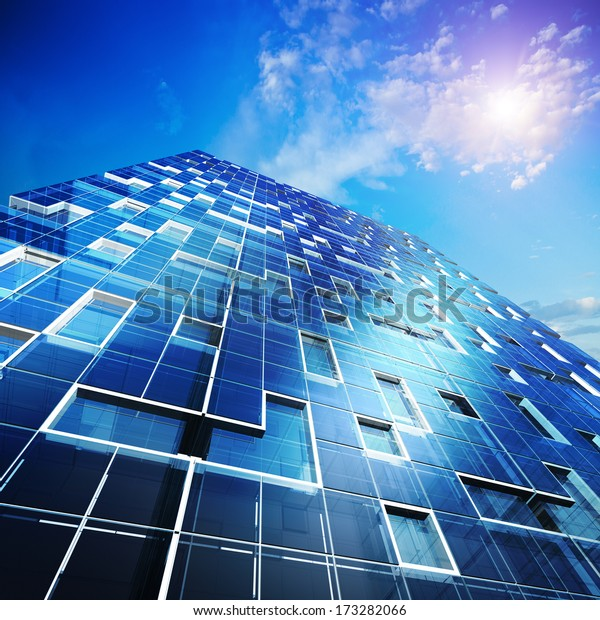 Building Concept Skyscraper Design Sky 3d Stock Illustration