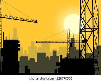 Building Plot Meaning City Construction And Home