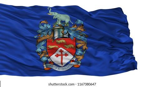 Bulawayo City Flag, Country Zimbabwe, Isolated On White Background, 3D Rendering
