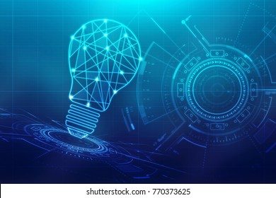 bulb future technology, innovation background, creative idea concept, Innovate business concept background