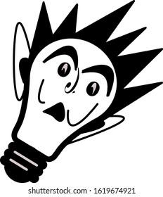 bulb shape cartoon face shape