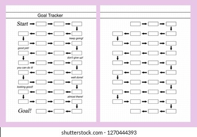 photo about Bullet Journal Weight Loss Tracker Printable referred to as Imágenes, fotos de inventory y vectores sobre Magazine+objectives