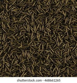 Bullets seamless pattern background. Texture of military ammunition. Ammo.