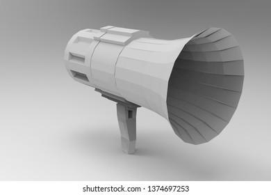 Bullhorn 3d rendering