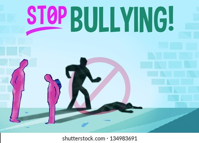Bullying Concept with Stop Bullying Text.