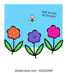 Hope You Feel Better Soon Afbeeldingen Stockfotos En Vectoren