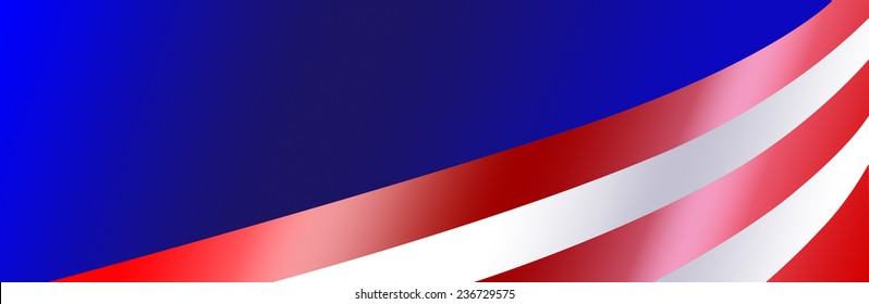 Bumper sticker background with gradient colors for a patriotic USA event.