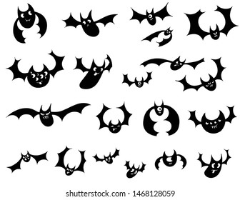 A bunch of cartoony, goofy bats