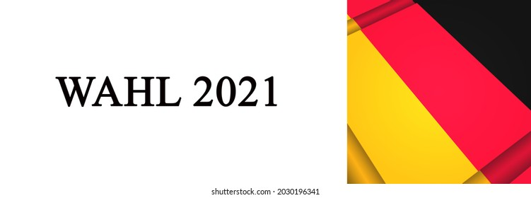 Bundestag election 2021 banner with German colors