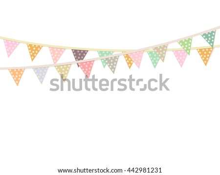Bunting Garlands Birthday Card Triangle Flags Stock Illustration