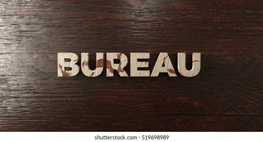 Bureau - grungy wooden headline on Maple  - 3D rendered royalty free stock image. This image can be used for an online website banner ad or a print postcard.