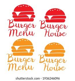 Burger and fast food logo. Burger icon