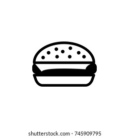 burger icon simple black eating icon Can be used as web element, eating design icon on white background