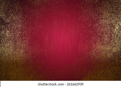 burgundy golden abstract   background , with   painted  grunge background texture for  design .